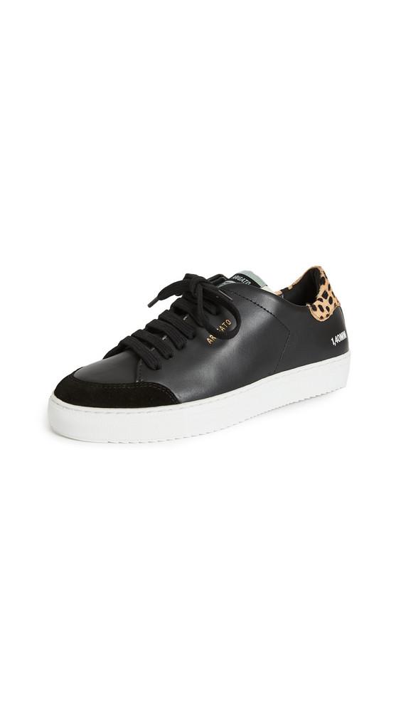 Axel Arigato Clean 90 Triple Animal Sneakers in black / leopard