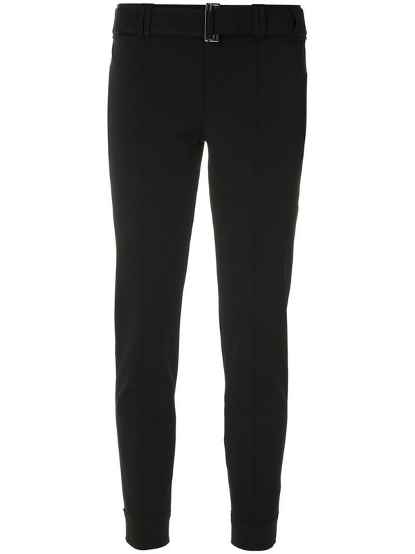 Gloria Coelho belted cropped trousers in black