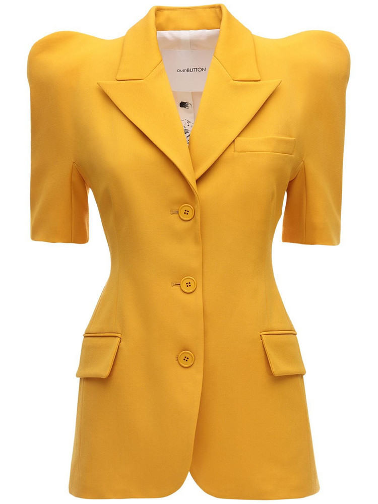 PUSHBUTTON Structured Cool Wool Blazer in yellow