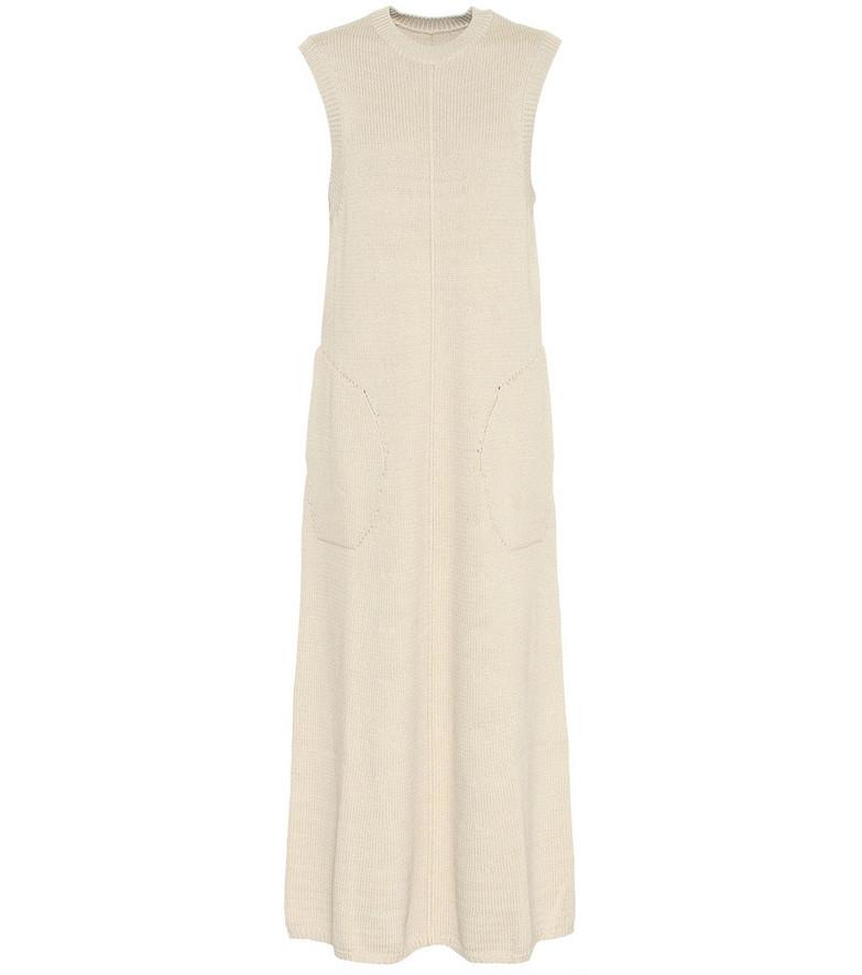 Peter Do Fine-knit maxi dress in beige