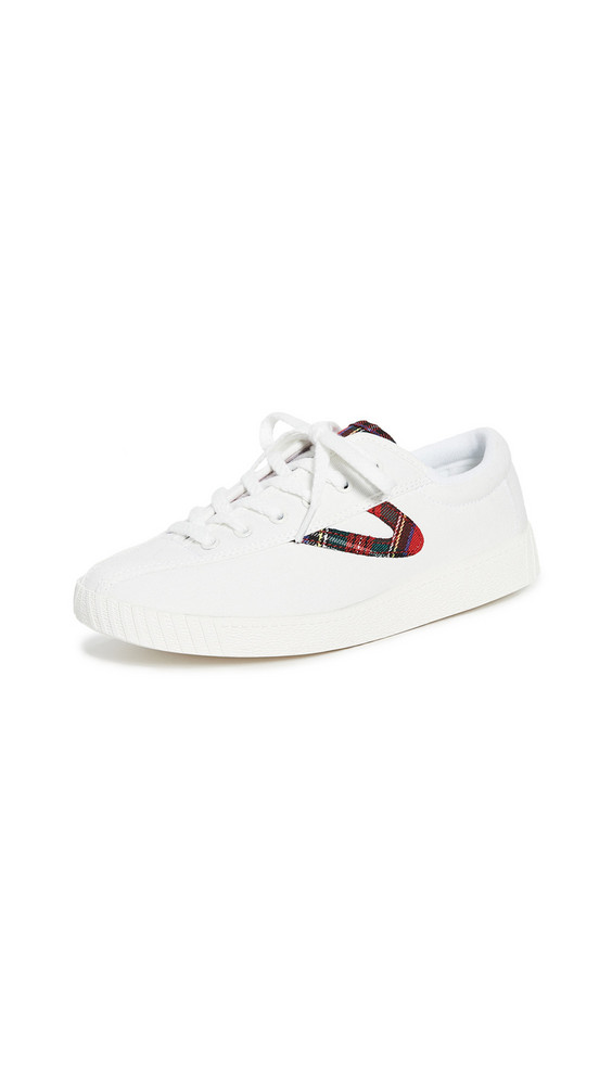 Tretorn Nylite 28 Plus Lace Up Sneakers in red / white / multi