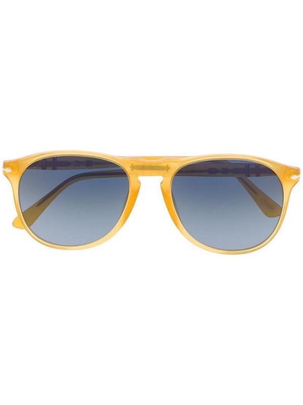 Persol aviator frame sunglasses in yellow