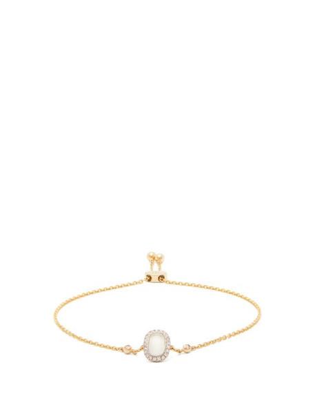 Anissa Kermiche - June Moonstone, Diamond & Gold Bracelet - Womens - White Multi