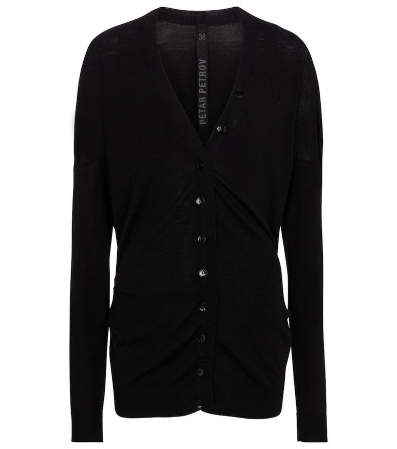 Petar Petrov Wool cardigan in black