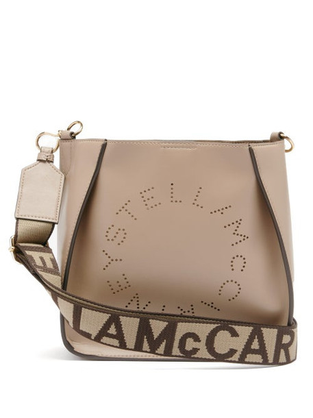 Stella Mccartney - Perforated-logo Faux-leather Shoulder Bag - Womens - Light Purple