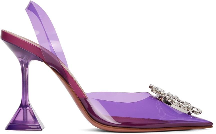 Amina Muaddi Purple Begum 95 Heels in lilac