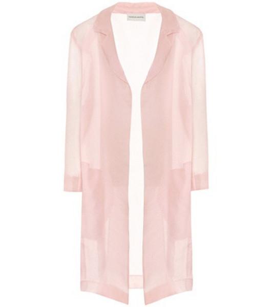 Mansur Gavriel Silk cardigan in pink