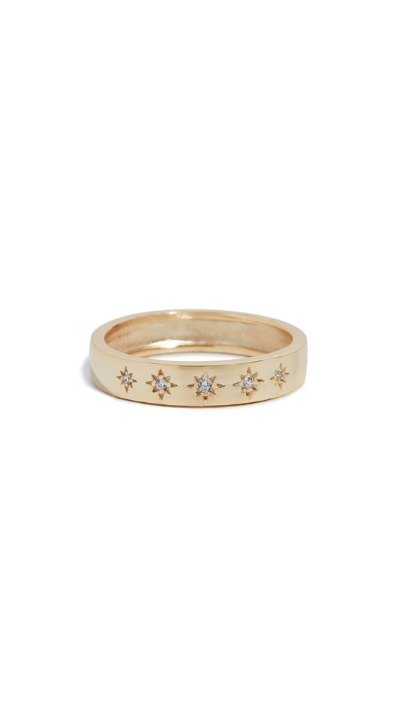 Shashi Twinkle Ring in gold / yellow