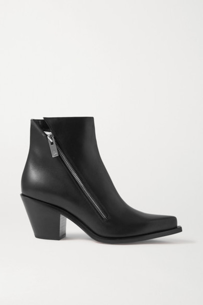 Christian Louboutin - Santiazip 65 Leather Ankle Boots - Black