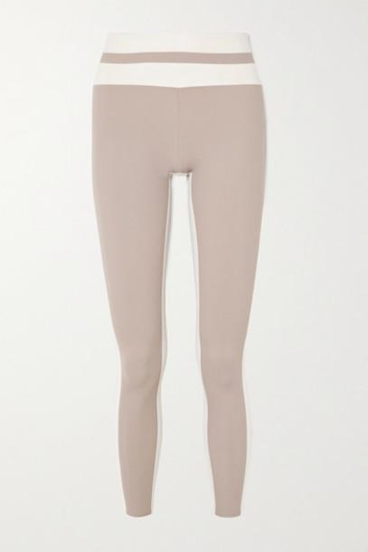 Vaara - Flo Tuxedo Two-tone Stretch Leggings - Bronze