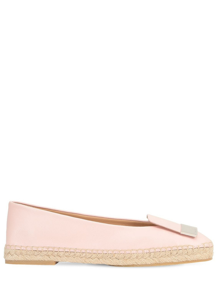 SERGIO ROSSI 10mm Sr1 Leather Espadrilles in pink