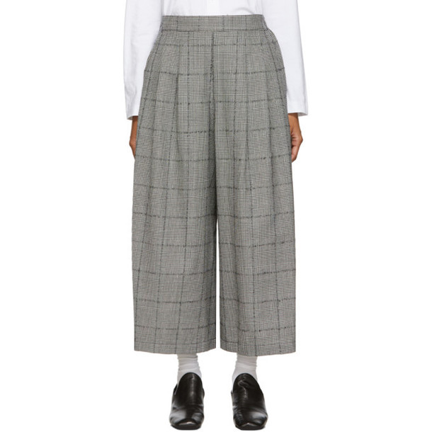 Tricot Comme des Garcons Black and White Glen Pattern Trousers