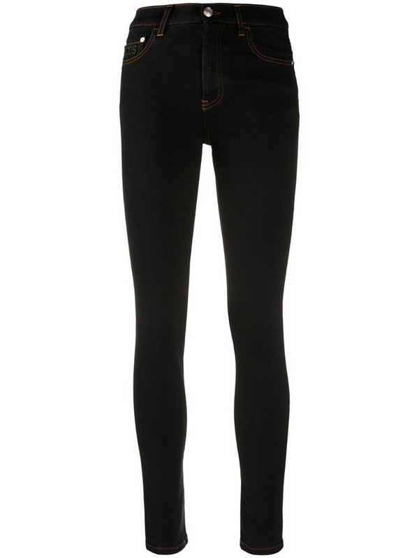 Gcds high-waisted skinny jeans in black
