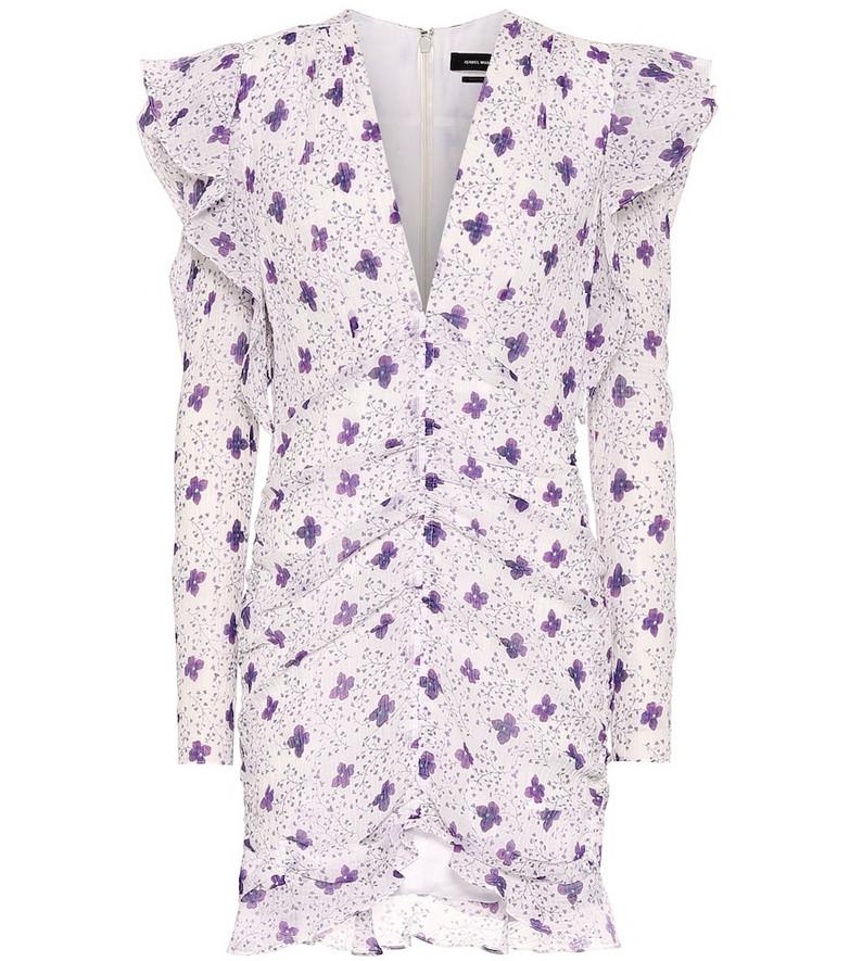Isabel Marant Etya cotton and silk minidress in white