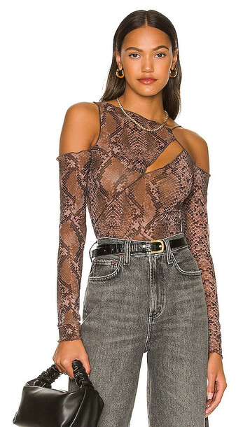 h:ours Zarayah Top in Brown