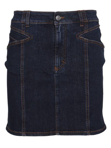 Givenchy Mid Rise Denim Mini Skirt