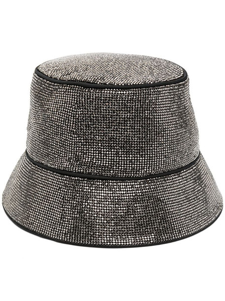 Kara stud-embellished bucket hat in black