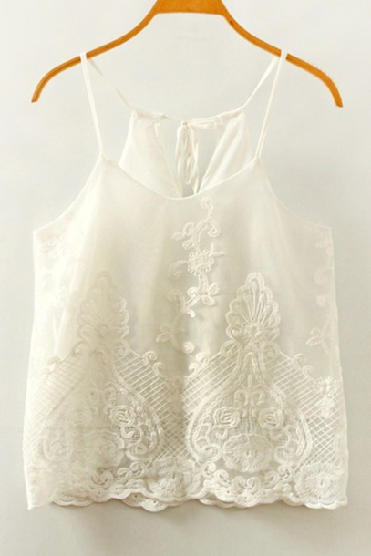 top white romantic summer fashion style spring casual