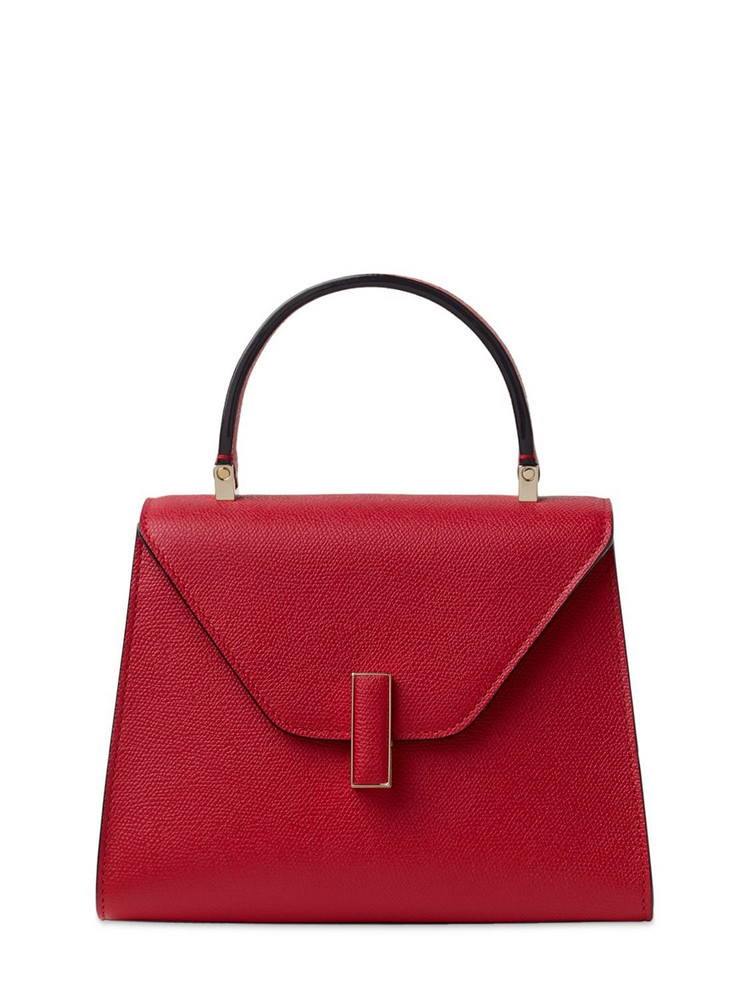 VALEXTRA Mini Iside Grained Leather Bag in red