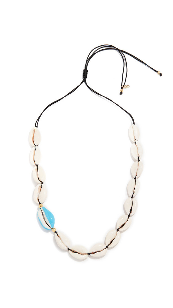 Maison Irem Ocracoke Full Shell Necklace in blue
