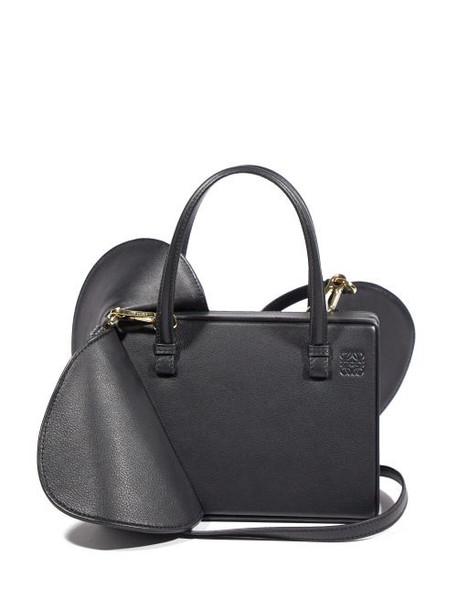 Loewe - Postal Wings Small Leather Shoulder Bag - Womens - Black