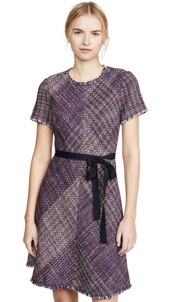 Rebecca Taylor Short Sleeve Blanket Tweed Dress in multi
