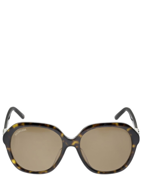 BALENCIAGA Bb Butterfly Acetate Sunglasses in brown