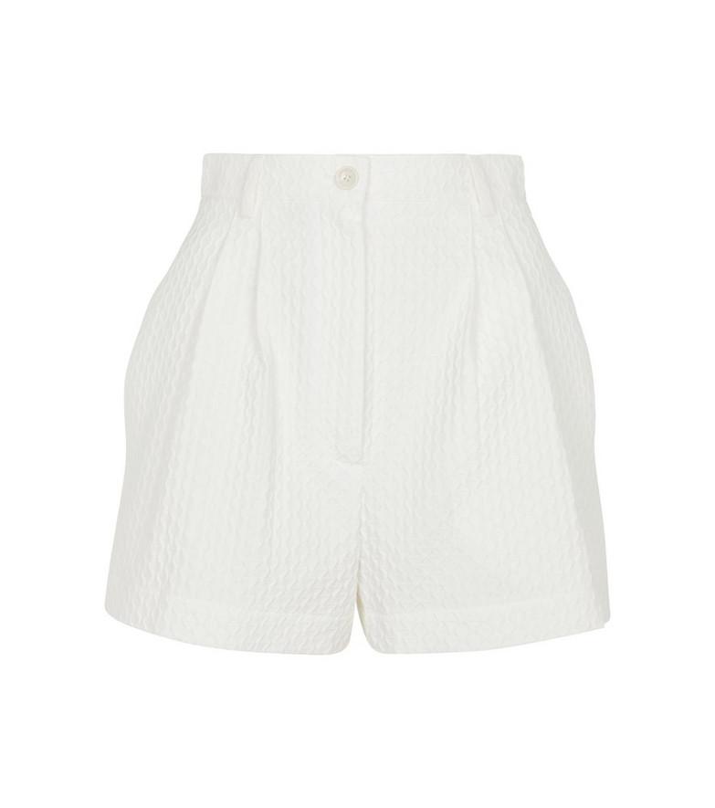 Alaïa Cotton-blend jacquard shorts in white
