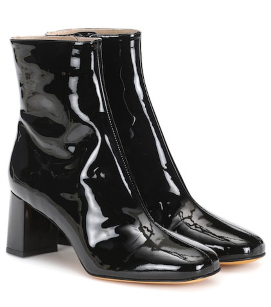 Maryam Nassir Zadeh Agnes patent leather ankle boots in black