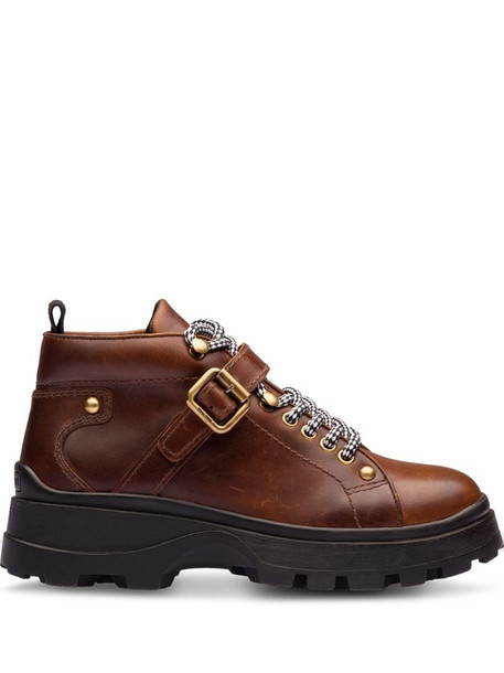 Miu Miu Leather booties in brown
