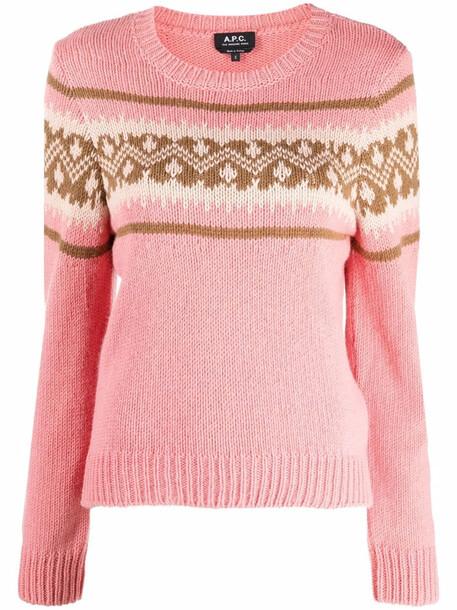 A.P.C. A.P.C. Elizabeth knit jumper - Pink
