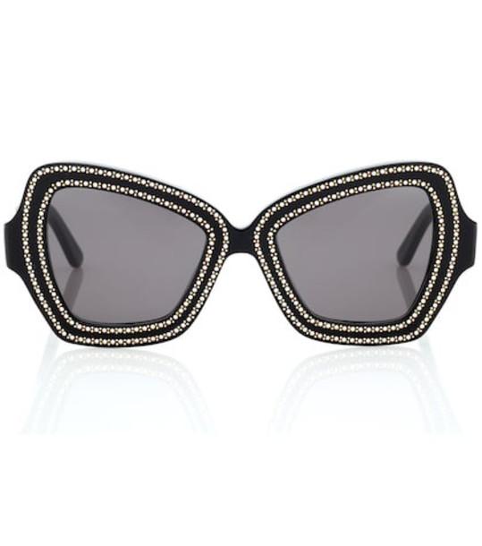 Celine Eyewear Embellished square sunglasses in black