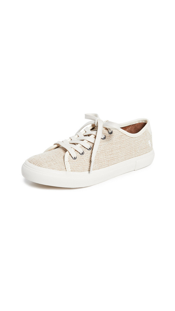 Frye Gia Canvas Sneakers in white