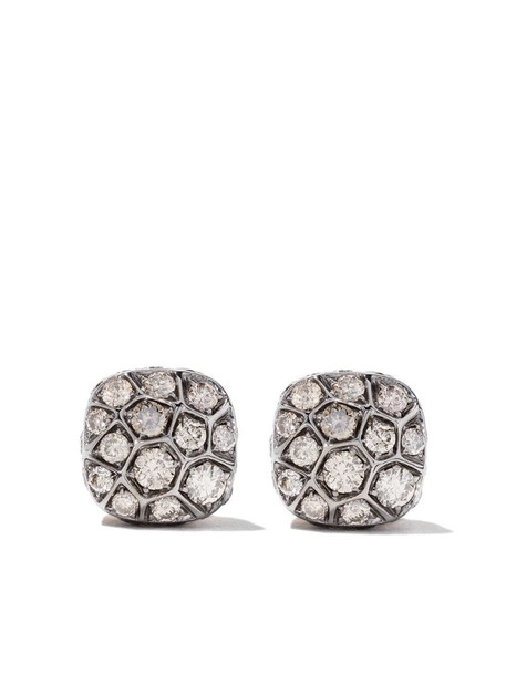 Pomellato 18kt rose gold and 18kt white gold Nudo earring in brown