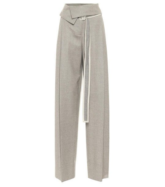 Stella McCartney High-rise wool wide-leg pants in grey
