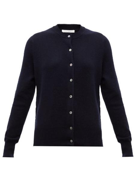 Extreme Cashmere - No. 99 Little Cashmere Blend Cardigan - Womens - Navy