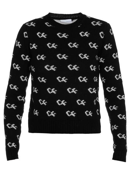 Chiara Ferragni Merino Wool Sweater in black
