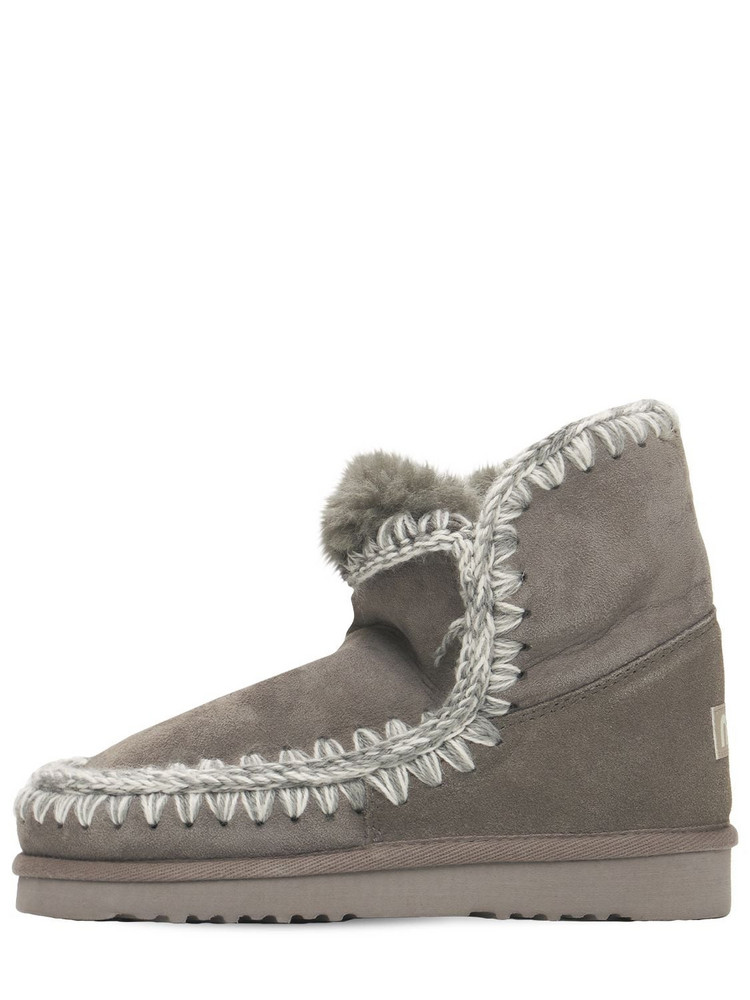 MOU 20mm Eskimo 18 Shearling Boots in grey