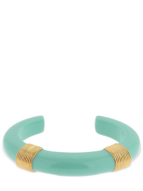 AURELIE BIDERMANN Katt Resin Cuff Bracelet in blue / gold