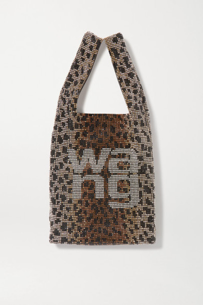Alexander Wang - Wangloc Mini Leopard-print Crystal-embellished Leather Tote - Leopard print