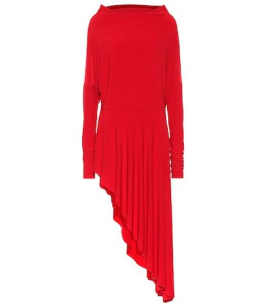 Norma Kamali Asymmetric stretch-jersey dress in red