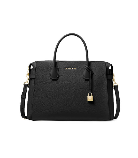 Michael Kors Mercer Large Black Satchel Bag