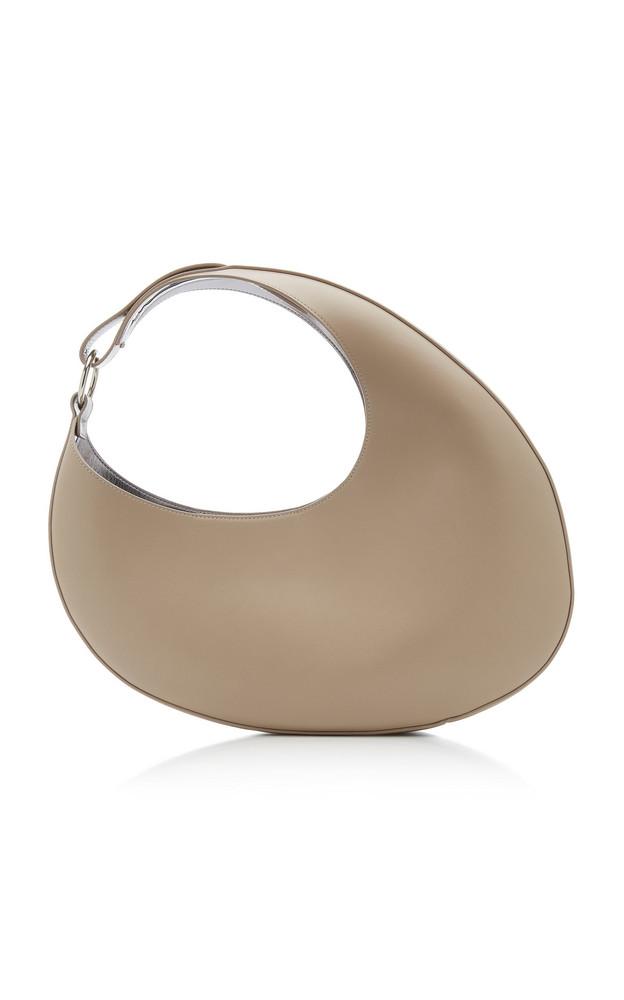 Carolina Santo Domingo Ostra Leather Top Handle Bag in grey