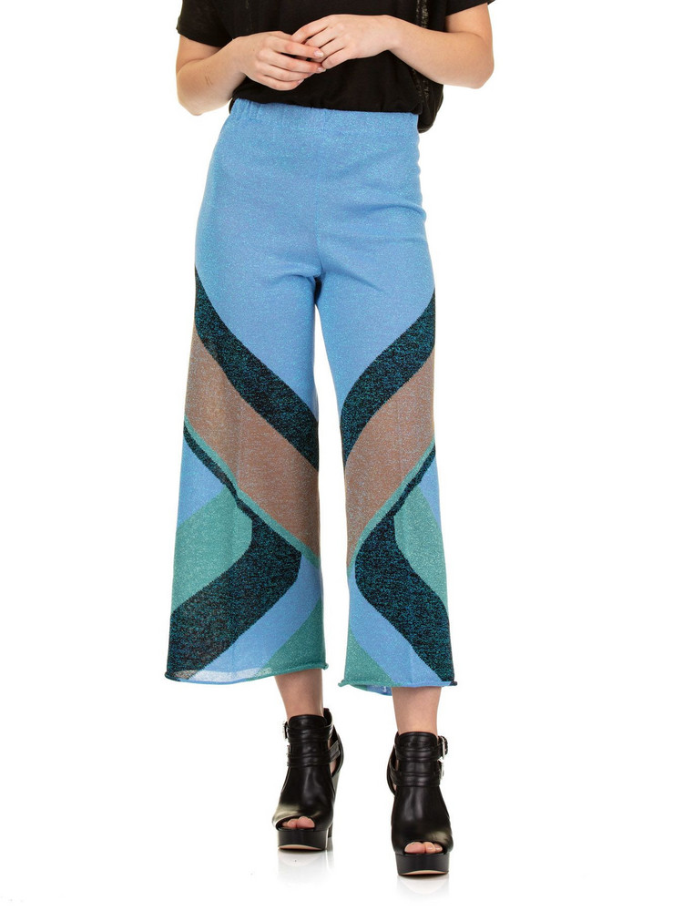 Circus Hotel Color Block Pants in blue
