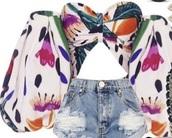 blouse,multicolor