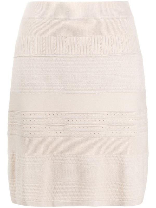 Steffen Schraut patterned knit skirt in neutrals
