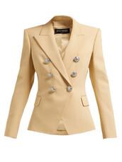 jacket,wool jacket,double breasted,wool,beige