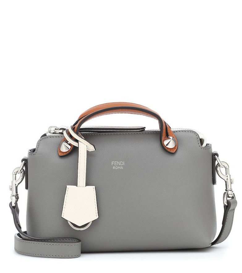 Fendi By The Way Small leather shoulder bag in grey