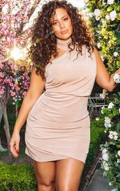 dress,nude,nude dress,ashley graham,celebrity,model,curvy,plus size dress