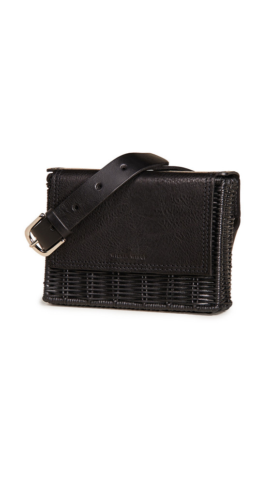 Wicker Wings Tao Clutch in black